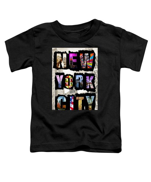New York City Text Toddler T-Shirt
