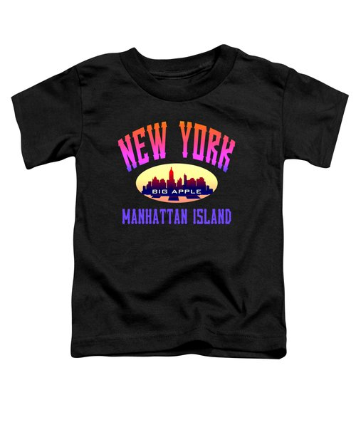 New York Manhattan Island Design Toddler T-Shirt