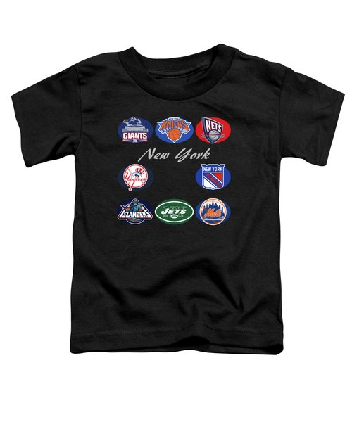 New York Professional Sport Teams Collage  Toddler T-Shirt