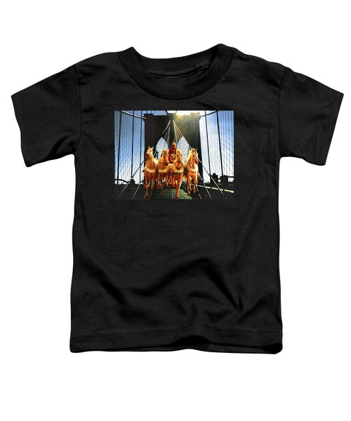 New York Brooklyn Bridge Fantasy Collage Toddler T-Shirt