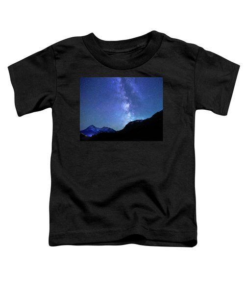 Night Sky In David Thomson Country Toddler T-Shirt