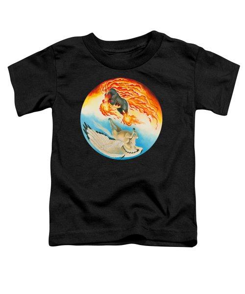 Nightmare And Mesa Pegasus Yin Yang Toddler T-Shirt by Melissa A Benson