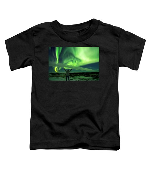 Northern Light In Western Iceland Toddler T-Shirt by Dubi Roman