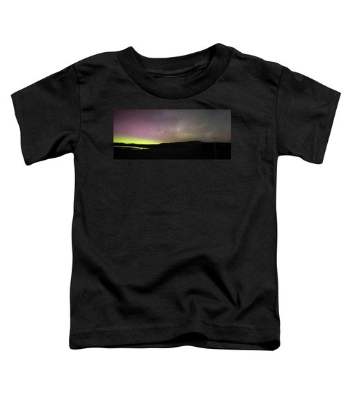 Northern Lights And Milky Way In Yellowstone Np Toddler T-Shirt