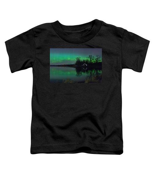 Northern Lights At Gull Lake Toddler T-Shirt