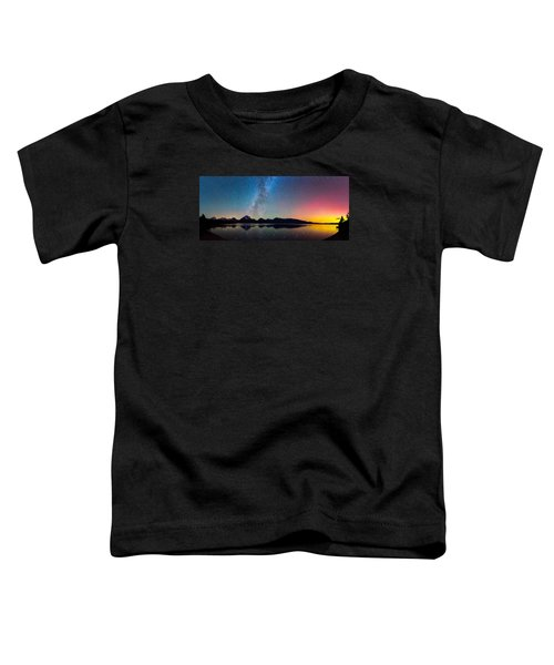 Northern Lights Over Jackson Lake Toddler T-Shirt