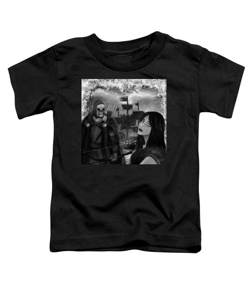 Now Or Never - Black And White Fantasy Art Toddler T-Shirt