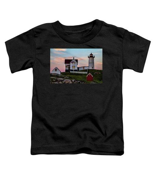 Nubble Lighthouse At Dusk  Toddler T-Shirt