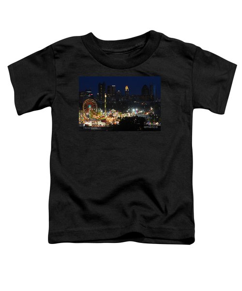 D3l-464 Ohio State Fair With Columbus Skyline Toddler T-Shirt
