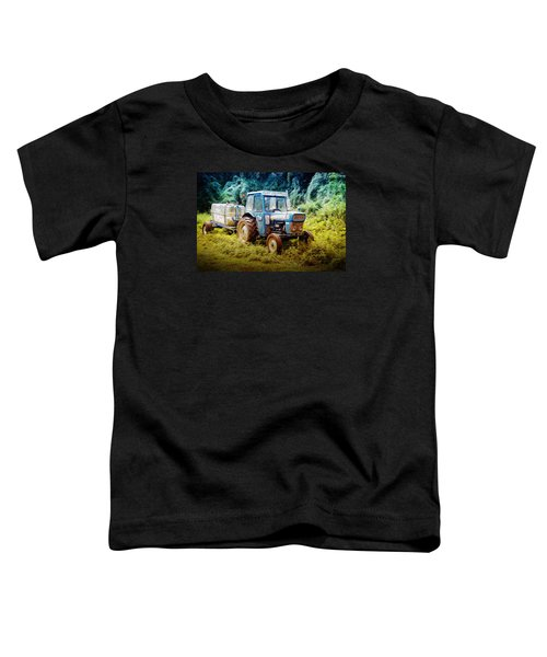 Old Blue Ford Tractor Toddler T-Shirt