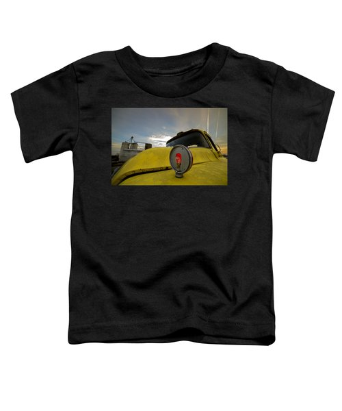 Old Chevy Truck With Grain Elevators In The Background Toddler T-Shirt
