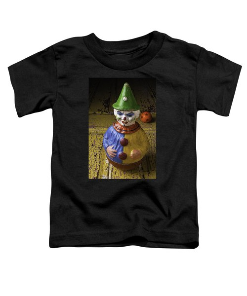 Old Clown And Ball Toddler T-Shirt