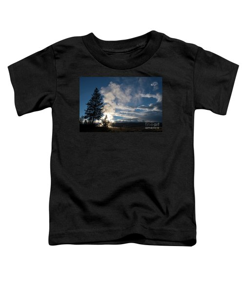 Old Faithfull At Sunset Toddler T-Shirt
