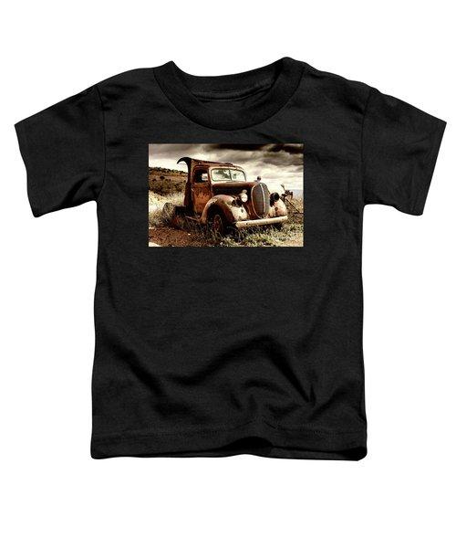 Old Ford Truck In Desert Toddler T-Shirt