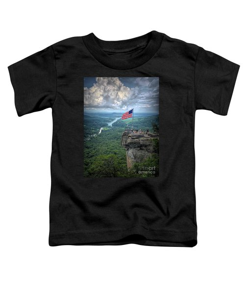 Old Glory On The Rock Toddler T-Shirt