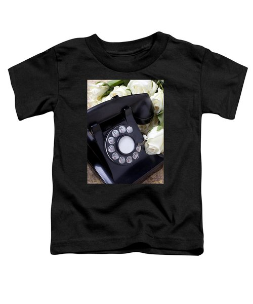 Old Phone And White Roses Toddler T-Shirt