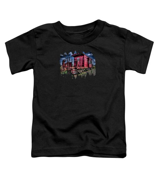 Old Red Caboose Toddler T-Shirt by Thom Zehrfeld