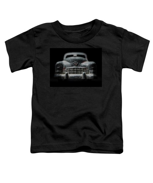 Old Silver Cadillac Toy Car With Specks Of Red Paint Toddler T-Shirt