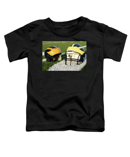 One Old, One New Wolverine Helmets On The Field Toddler T-Shirt
