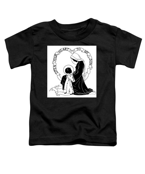 Open Your Heart To My Son - Version 1 - Dpoy1h Toddler T-Shirt