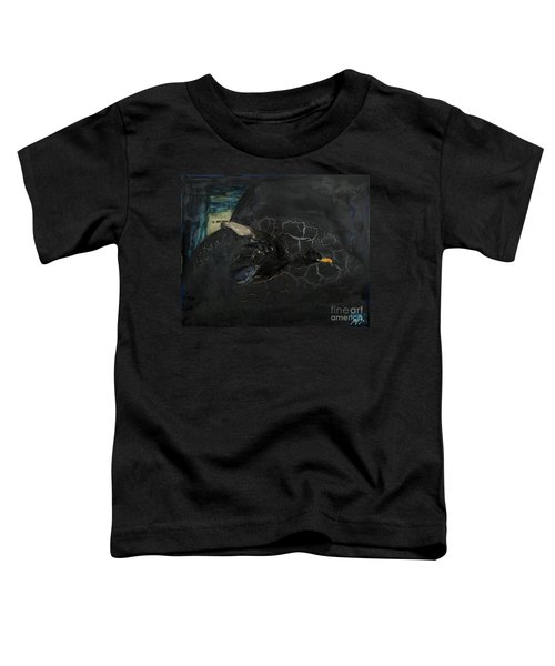 Oracular Inquiry - Ecological Footprint - Drilling Permits - Crude Oil Offshore Energy - Das Orakel Toddler T-Shirt