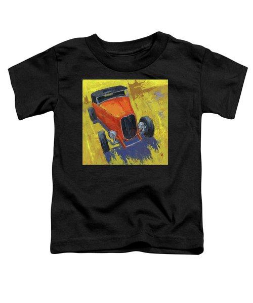 Orange Hot Rod Roadster Toddler T-Shirt