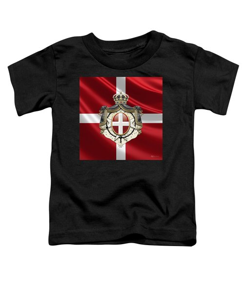 Order Of Malta Coat Of Arms Over Flag Toddler T-Shirt