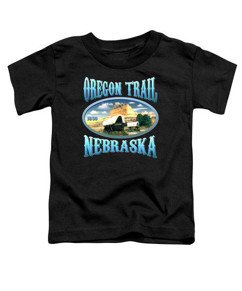Oregon Trail Nebraska History Design Toddler T-Shirt