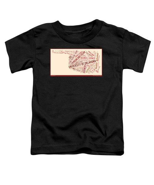 Ou Word Art University Of Oklahoma Toddler T-Shirt