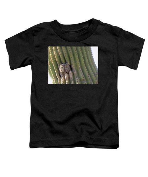 Owl In Cactus Burrow Toddler T-Shirt