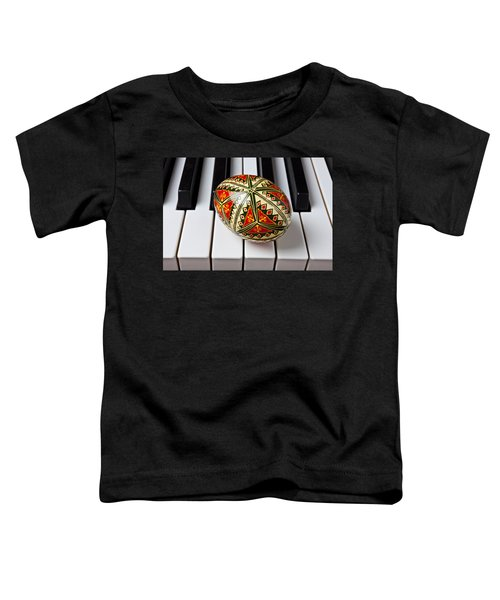 Painted Easter Egg On Piano Keys Toddler T-Shirt