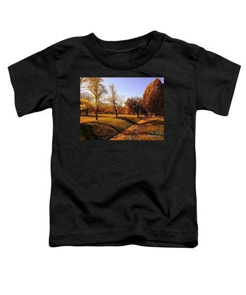 Painting With Shadows - Setting Sun Toddler T-Shirt