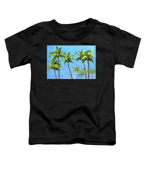 Palm Tree Plein Air Painting Toddler T-Shirt