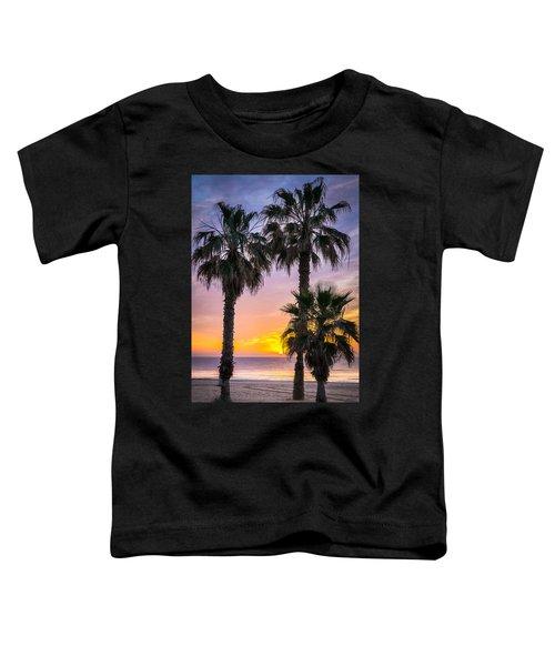 Palm Tree Sunrise. Toddler T-Shirt