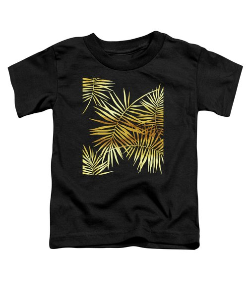 Palmes Dor Noir Golden Palm Fronds And Leaves Toddler T-Shirt