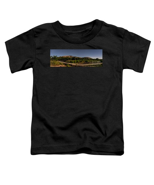 Panorama Of Enchanted Rock At Night - Starry Night Texas Hill Country Fredericksburg Llano Toddler T-Shirt