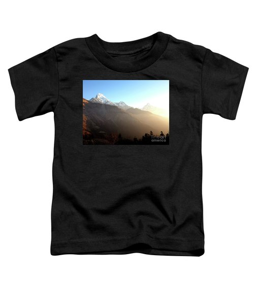 Panoramic Sunset View Of Everest Mountain Toddler T-Shirt