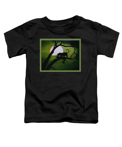 Panther Silhouette - Use Red-cyan 3d Glasses Toddler T-Shirt