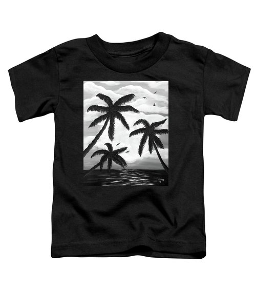 Paradise In Black And White Toddler T-Shirt