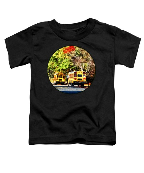 Parked School Buses Toddler T-Shirt