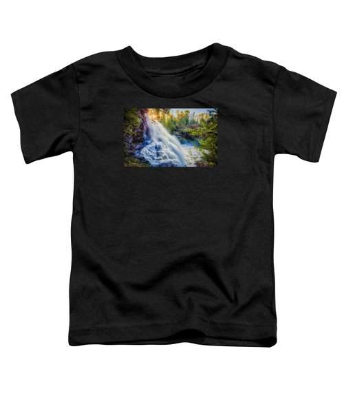 Toddler T-Shirt featuring the photograph Partridge Falls In Late Afternoon by Rikk Flohr