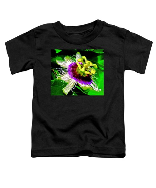 Passion Flower 3 Uplift Toddler T-Shirt
