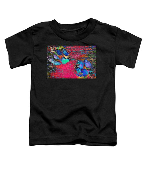 Paw Prints Colour Explosion Toddler T-Shirt