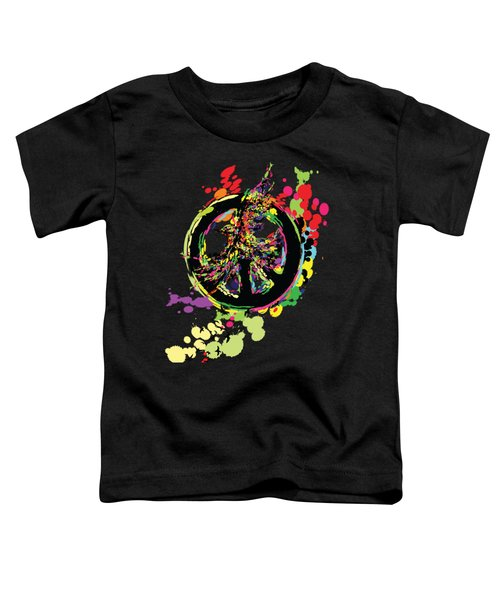 Peace And Peace Toddler T-Shirt by Cindy Shim