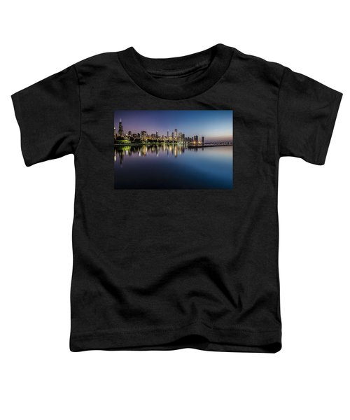 Peaceful Summer Dawn Scene On Chicago's Lakefront Toddler T-Shirt