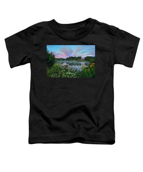 Peaceful Sunrise At Lake. Altai Toddler T-Shirt