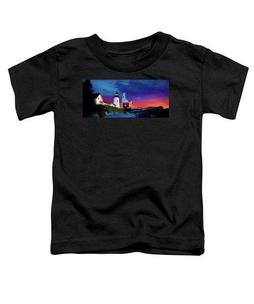 Pemaquid Lighthouse At Dawn Artistic Panorama Toddler T-Shirt