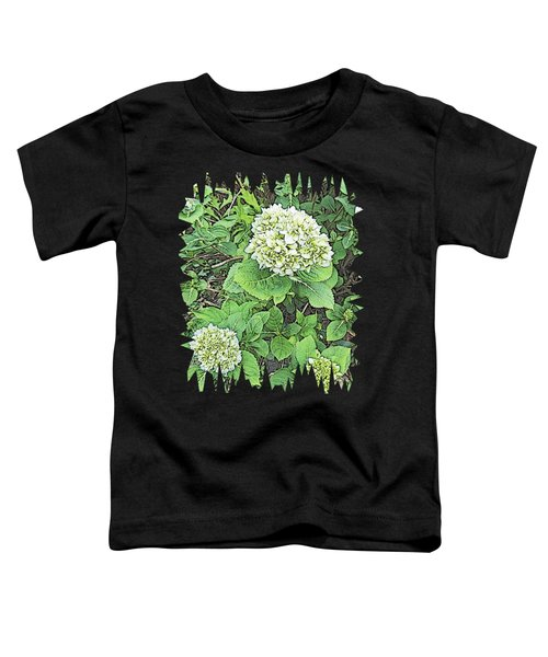 Pencil Sketch Hydrangea With Jagged Edges Toddler T-Shirt