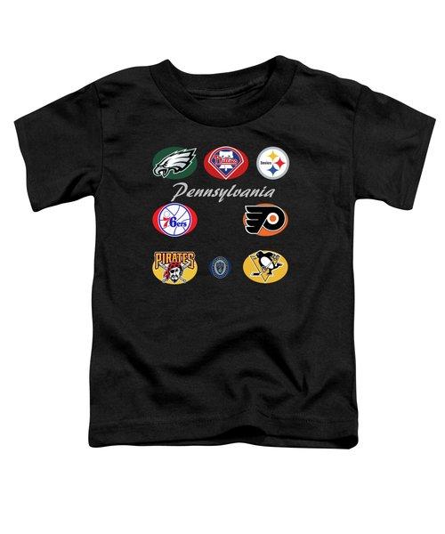 Pennsylvania Professional Sport Teams Collage  Toddler T-Shirt
