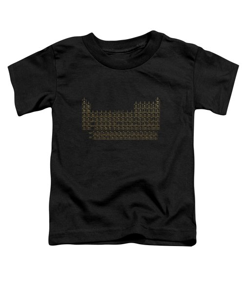 Periodic Table Of Elements - Gold On Black Metal Toddler T-Shirt